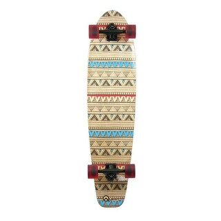 Made In Mars 40 in. Quest Tribes Pin Kick Tail Longboard Skateboard