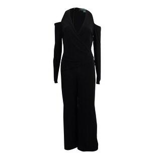 Lauren by Ralph Lauren Women's Cold-Shoulder Jersey Jumpsuit - Black