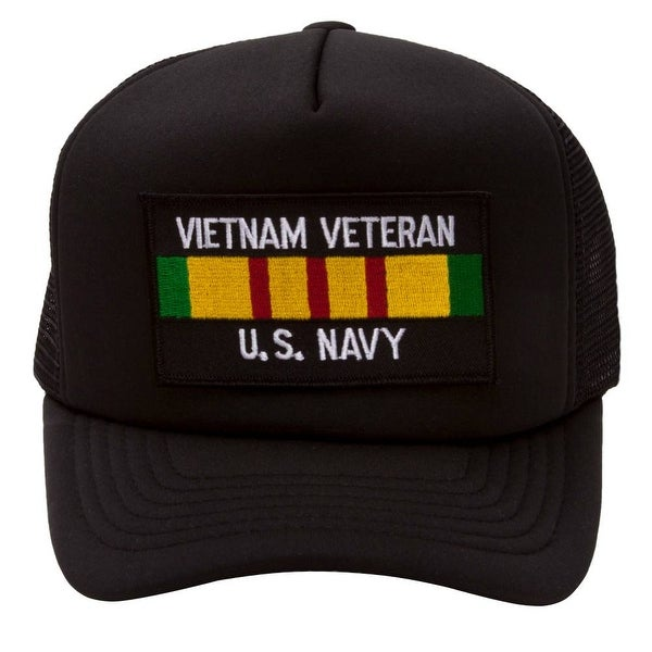 864f9976b ... cap black 0b011 c2b5a; best price military patch adjustable trucker hats  vietnam veteran us navy 12ebf dd8b5