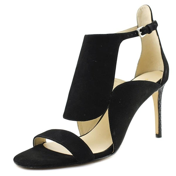Nine West Denita Open-Toe Suede Heels