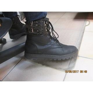 White Mountain Kaylor Women  Round Toe Canvas Black Winter Boot