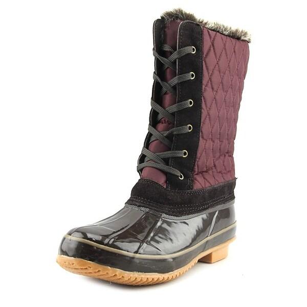 Khombu Bridget Women Round Toe Synthetic Burgundy Winter Boot