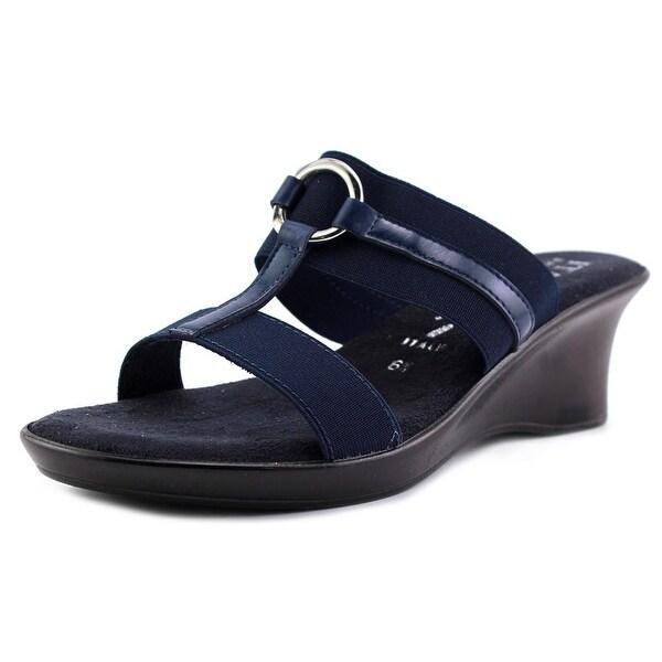 Italian Shoe Makers Bess Women Open Toe Leather Wedge Sandal