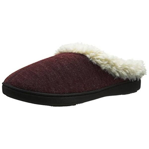 Isotoner Womens Slip-On Slippers French Terry Heel Cushion