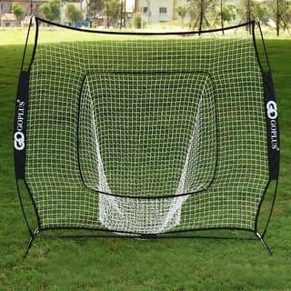 Costway 7X7' Baseball Softball Practice Hitting Batting Training Net Bow Frame Black Bag|https://ak1.ostkcdn.com/images/products/is/images/direct/c60354f5778293690bc7df43a572c4eccea31890/Costway-7X7%27-Baseball-Softball-Practice-Hitting-Batting-Training-Net-Bow-Frame-Black-Bag.jpg?impolicy=medium