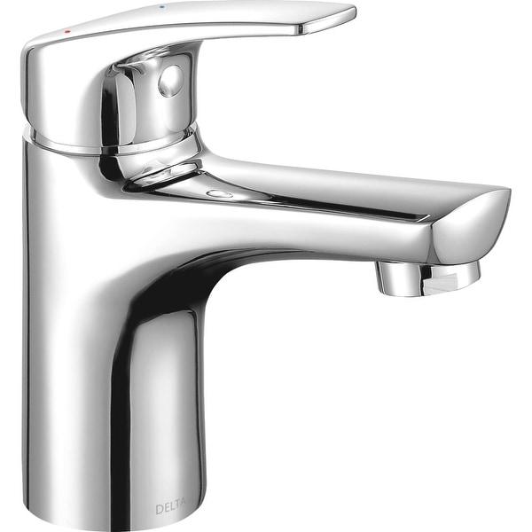 Shop Delta 534lf Gpm Pp Modern 1 Gpm Single Hole Bathroom Faucet