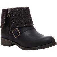 Rocket Dog Women's Bentley Ankle Boot Black Lewis Synthetic/Finland Fabric
