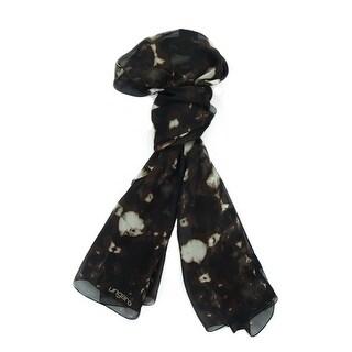 Ungaro UN7018 S7789 Tie Dye Print Brown Silk Scarf