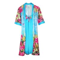 CTM® Women's Floral Robe and Gown Set