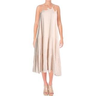 Free People Womens Mariposa Casual Dress Raw Edges Layered