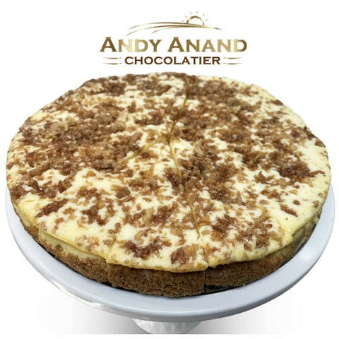 "Andy Anand Churro Cheesecake 9"" 2 lbs with Greeting Card"