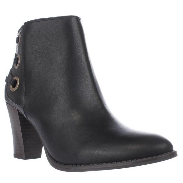 I35 Jesaa Lace Accent Ankle Boots, Black