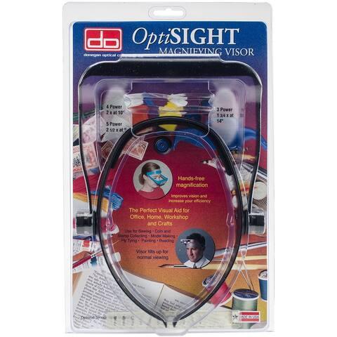 Optisight Magnifying Visor-Black - Black