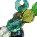 Czech Fire Polished Glass Beads 8mm Round 'Ever Green Mix' (50) - Thumbnail 0