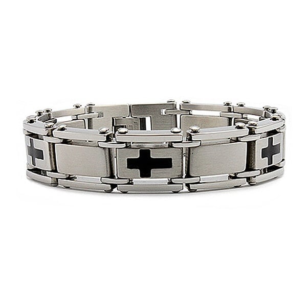 Stainless Steel Men's Link Bracelet 8.25 Inches