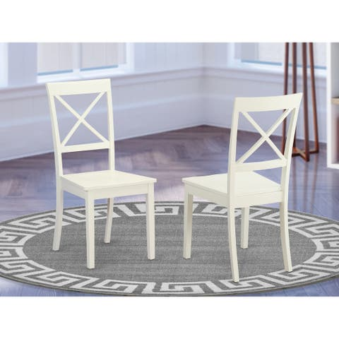 Copper Grove Cummins 2-piece X-back Wooden Dining Room Chair Set - BOC-WHI-W