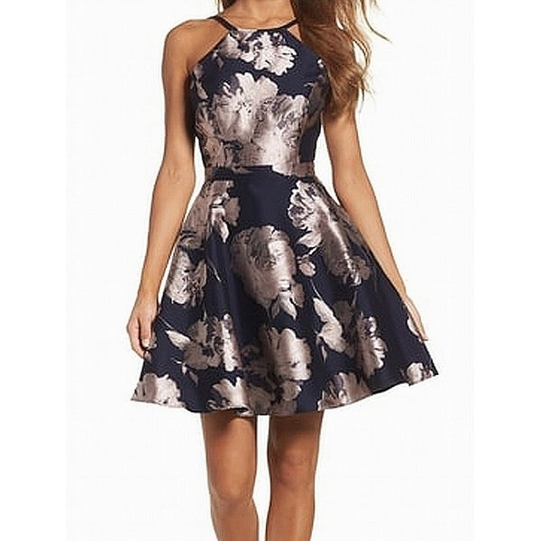 cf89d163 Shop Xscape Blue Blush Women's Size 2 Floral Jacquard A-Line Dress - On Sale  - Free Shipping Today - Overstock - 27552813