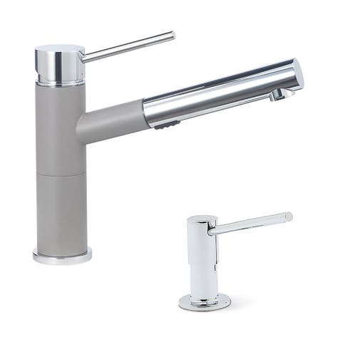 """Blanco KF-441620 Alta Compact Pull-Out Faucet with Soap Dispenser - 2"""" x 8"""" x 8.5"""""""