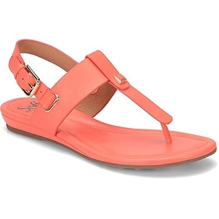 Sofft Womens Alexie Leather Split Toe Casual Slingback Sandals