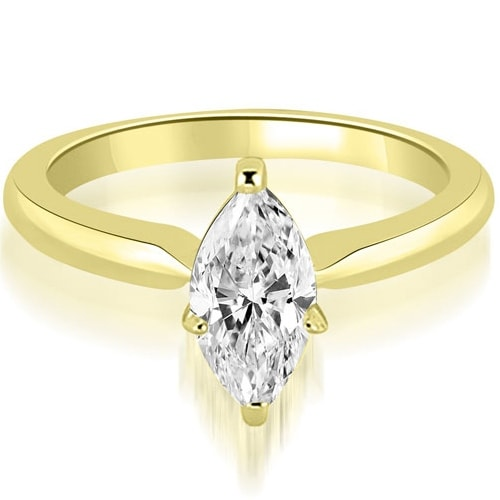 0.75 cttw. 14K Yellow Gold Classic Solitaire Marquise Diamond Engagement Ring