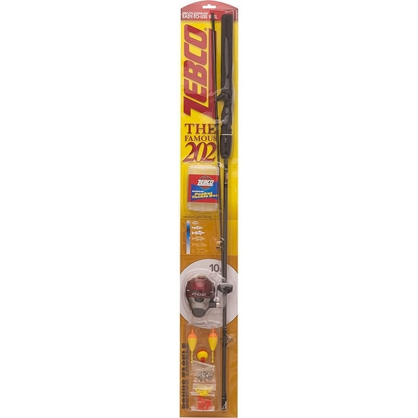 "Zebco 202 5'6"" Spincast Combo W/Tackle W/10#"