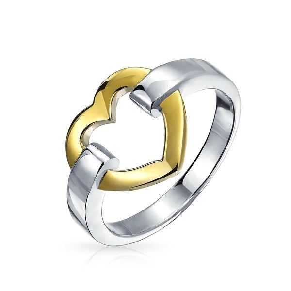 aead6dc9d223d Shop Valentine Open Heart Gold Plated 925 Sterling Silver Forever ...