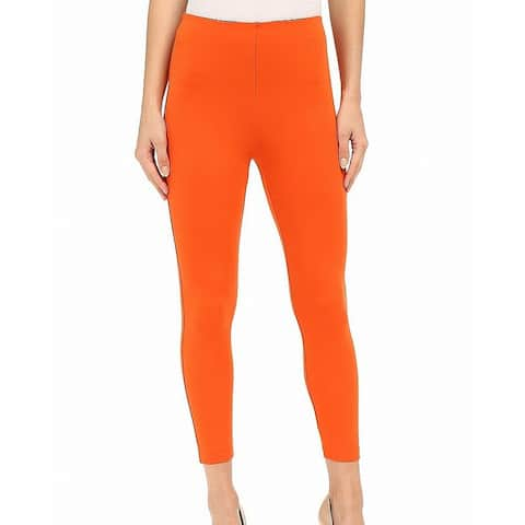 Lysse Orange Womens Size XS High Waist Ankle Stretch Leggings
