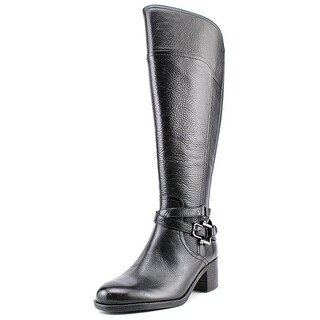 Marc Fisher Womens Kacee Leather Round Toe Knee High Fashion Boots