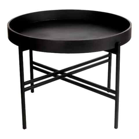 Aurelle Home Atlas Industrial Iron Tray Top Coffee Table