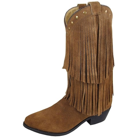 """Smoky Mountain Western Boots Womens Wisteria Leather 12"""" Brown"""