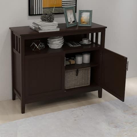 Moda Kitchen Storage Sideboard And Buffet Server Cabinet Brown