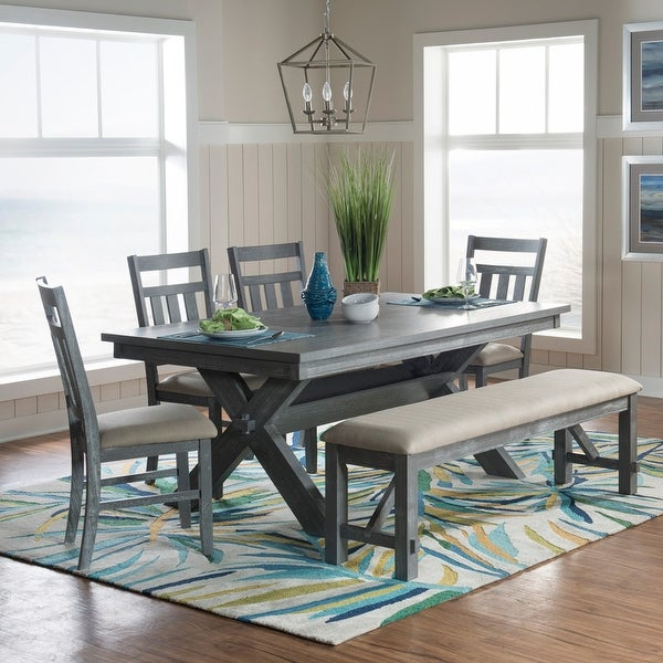 Chester 6-Piece Rustic Farmhouse Dining Set. Opens flyout.