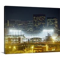 Premium Thick-Wrap Canvas entitled Coors Field lit up at night, Denver, Colorado