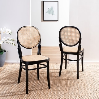 Safavieh Sonia Modern Natural Cane Dining Chair (Set of 2)