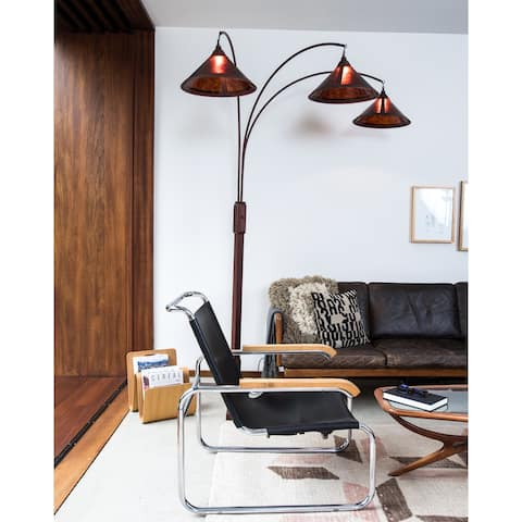 Mica 3-Light Arc Lamp