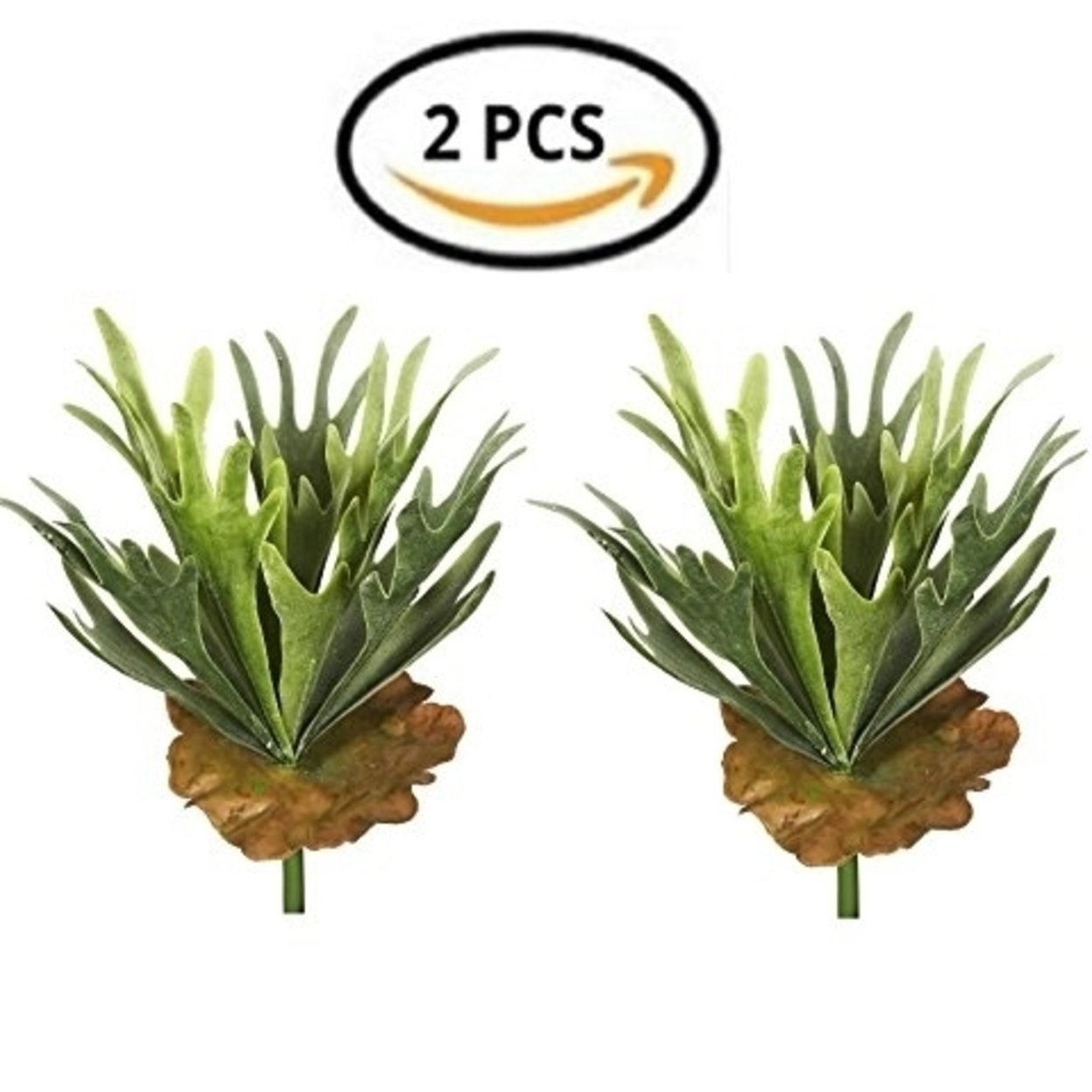 2 Artificial Succulents Grass Green Plants leaves