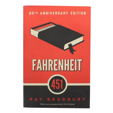 Fahrenheit 451 60th Anniversary Edition Paperback Book - Multi