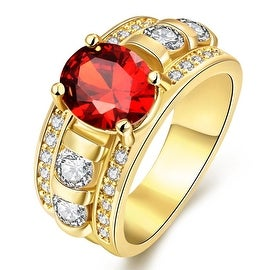 A King's Crown Gemstone Gold Ring