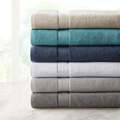 Madison Park Signature 800gsm 100-percent Cotton Bath Sheet Antimicrobial 2 Piece Set