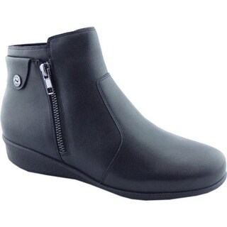 Drew Women's Athens Ankle Boot Black Leather