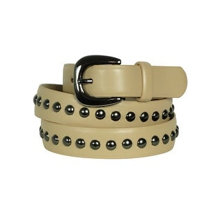 Style & Co. Women's Solid Color Studded Belt