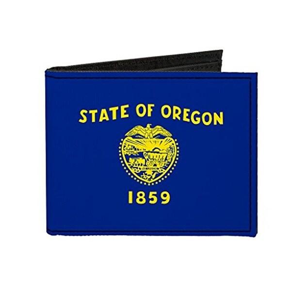 Buckle-Down Canvas Bi-fold Wallet - Oregon Flag Accessory