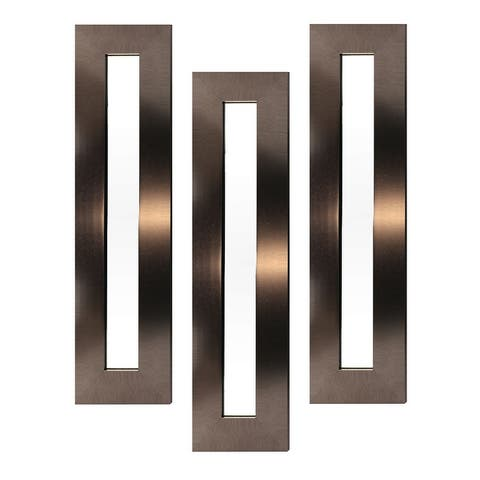Silvertone 42 x 11 Inch Set of 3 Decorative Accent Wall Mirrors