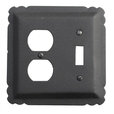 Switchplate Black Wrought Iron Toggle/Duplex