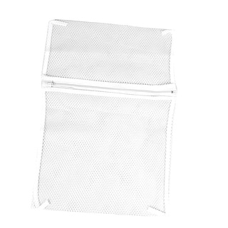 Zipper Lingerie Delicate Clothes Mesh Wash Bag Home Household Net Washing Laundry Bag White