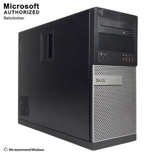 Dell 7010 TW Intel Core i5 3470 3.20GHz, 16GB RAM, 360GB SSD, DVD, WIFI, BT 4.0, VGA, HDMI DP, WIN10P64(EN/ES)-Refurbished