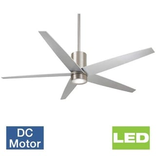 "MinkaAire Symbio 56"" 5 Blade Indoor Ceiling Fan with Integrated LED Light Kit, Full Function Remote, and DC Motor"