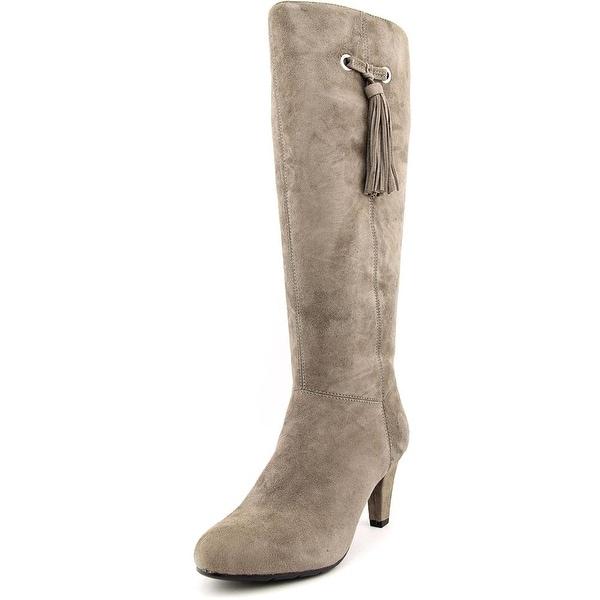 Bandolino Bacia Women Round Toe Suede Gray Knee High Boot