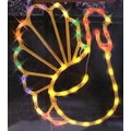 "17"" Lighted Thanksgiving Turkey Window Silhouette Decoration - Thumbnail 0"