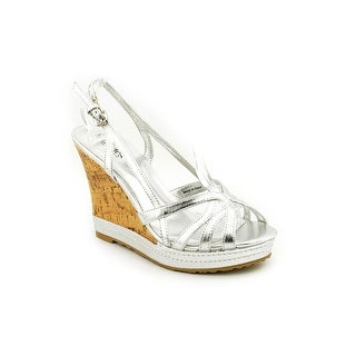 Charles By Charles David Thimble Women Open Toe Patent Leather Wedge Heel